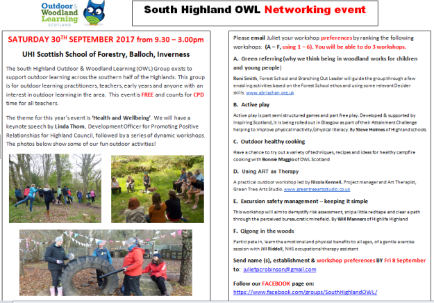 CPD with South Highland OWL   Highland Learning for Sustainability
